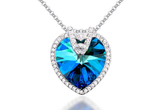 Titanic Blue Ocean Necklace Embellished with Swarovski crystals