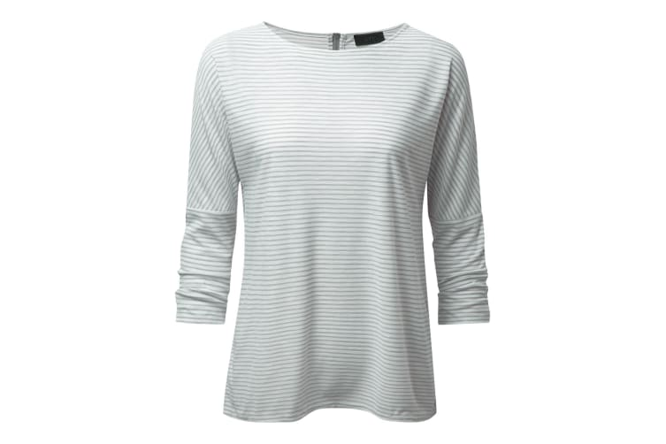 Craghoppers Womens/Ladies NosiLife Shelby Long Sleeved Top (Soft Grey Combo) (12 UK)