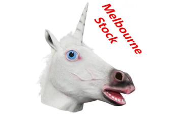 Unicorn Horse Head Mask Latex Animal Costume Prop Gangnam Style Party Halloween