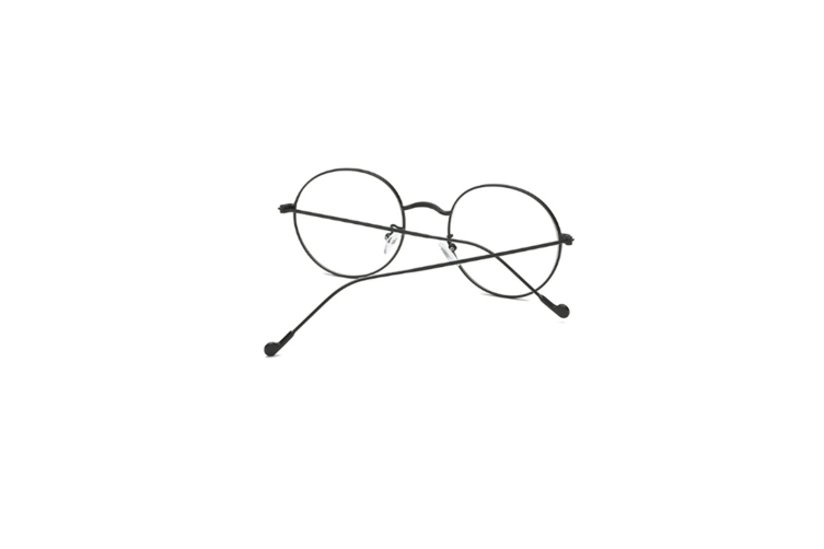 Classic Round Shape Metal Frame Nearsighted Myopia Glasses - 1 Black 400 Degrees Myopia