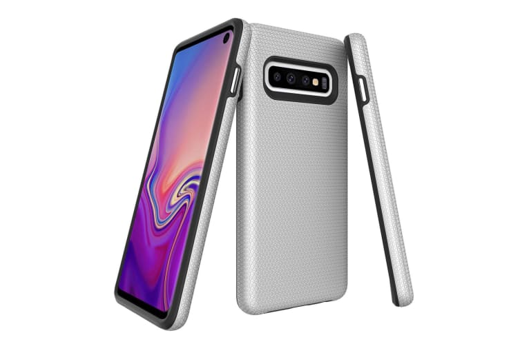 For Samsung Galaxy S10 Case  Armour Silver Protective Durable Slim Phone Cover