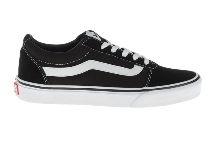 Vans Women's Ward Suede Canvas Shoe (Black/True White, Size 9 US)