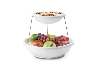 Fozzils Twistfold Two Tier Party Bowls Function Catering Candy Snack Basket Bowl