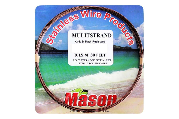 30ft Coil of 30lb Mason Multistrand Stainless Steel Wire Fishing Leader