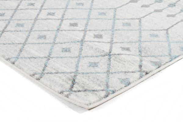 Slate White Transitional Rug 400x80cm