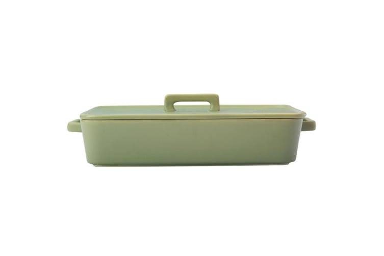 Maxwell & Williams Epicurious 32cm Rectangle Baker Porcelain Baking Dish w  Lid
