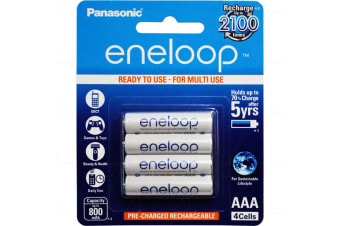 Eneloop Rechargeable 1.2V AAA battery Recharges up to 2100 times