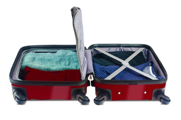 Orbis 3 Piece Deluxe UltraTough Spinner Luggage Set (Carmine Red)