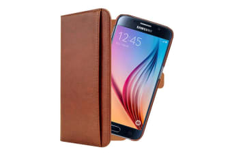 3SIXT Neo Wallet Case for Samsung Galaxy S6 - Brown