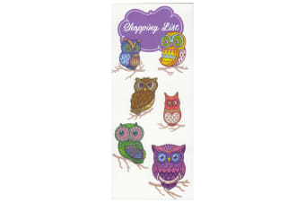 Scribbles Stationery Decorative Owls Shopping List Notepad