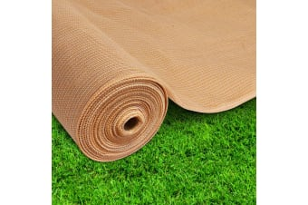 Instahut 70% Sun Shade Cloth Cloths 175GSM Sail Roll Mesh Outdoor Beige 1.83m x 20m Summer UV Protection