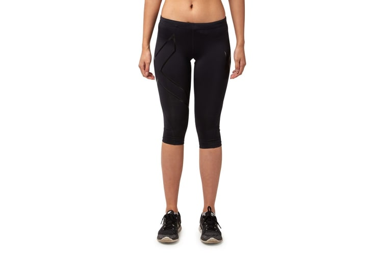 2XU Women's 3/4 Compression Tights G1 (Black/Nero, Size XXS)