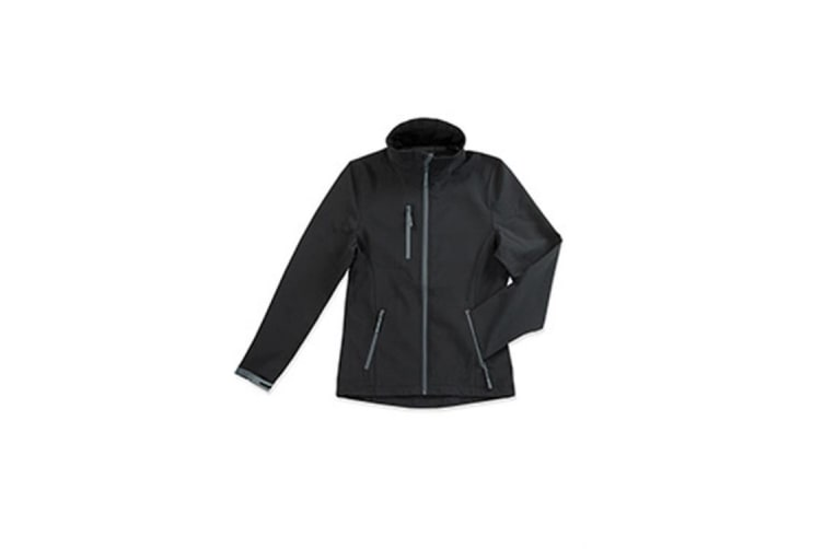 Stedman Womens/Ladies Active Softest Shell Jacket (Black Opal) (L)
