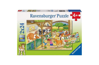 Ravensburger Merry Country Life Puzzle - 2 x 24 Piece