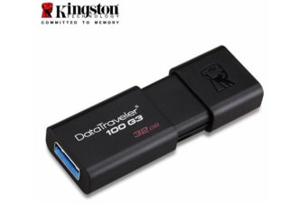 Kingston 32GB USB3.0 Flash Drive Memory Stick Thumb Key DataTraveler DT100G3 Retail Pack 5yrs warranty ~USK-DT100G3-32F DT100G3/32GBFR
