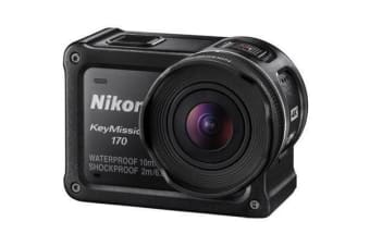 Nikon KeyMission 170 4K Action Camera Capture UHD 4K 25/30p with 170° View  Built-In Vibration