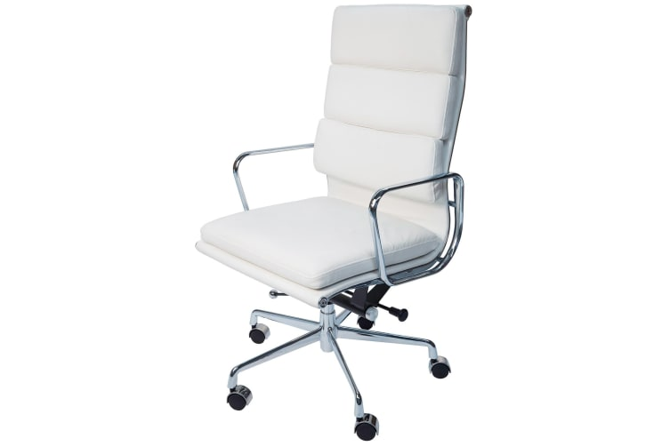 Replica Eames High Back Soft Pad Executive Desk / Office Chair | White