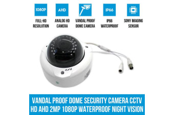 Elinz Vandal Proof Dome Security Camera CCTV HD AHD 2MP 1080P Waterproof Night Vision