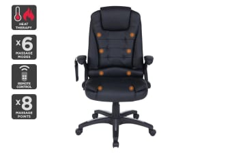 Ergolux Saratoga 8 Point Heated Vibrating Massage Office Chair