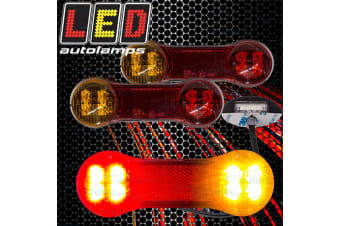 LED TRAILER LIGHTS KIT TAIL STOP INDICATORS LAMPS NUMBER PLATE & WIRING DB22LP