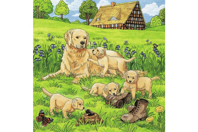 Ravensburger Cats and Dogs Jigsaw Puzzle - 3 x 49 Piece