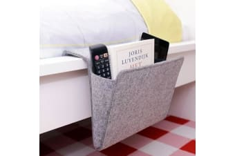 Bedside Felt Pocket Holder for Books & Remote Controls