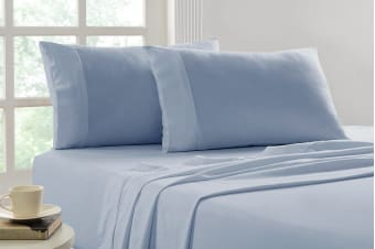 Park Avenue 175 GSM Egyptian Cotton Flannelette Sheet Set (Indigo)