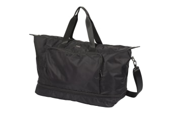 Luxe Stresa Expandable 15in Computer Duffel (Solid Black) (26.6 x 63.5 x 36.8 cm)