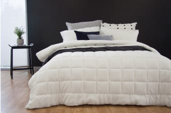 Ardor Faux Mink Comforter in White (Queen/King)