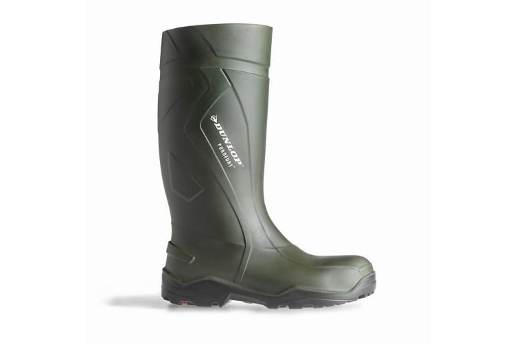 Dunlop C762933 Purofort+ Full Safety Standard Wellington Boxed / Womens Safety Boots (Green) (39 EUR)