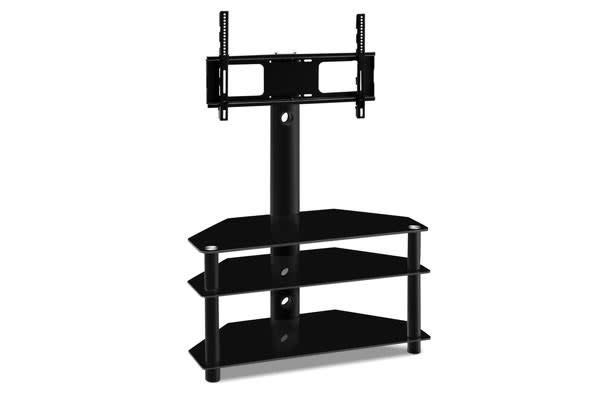 3 Tier Floor Tv Stand With Bracket Shelf Mount Kogan Com