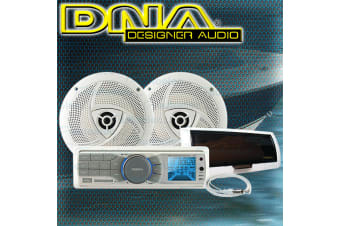 DNA MARINE AUDIO PACK FLUSH MOUNT RADIO MP3 IPOD USB + SPEAKERS + ANTENNA MA4P