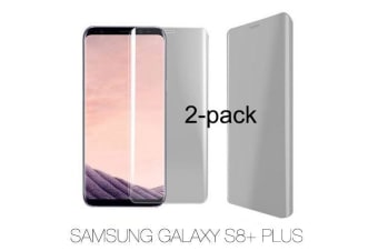 For Samsung Galaxy S8 PLUS 2-Pack Full Curved Edge to Edge Screen Protector