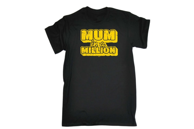 123T Funny Tee - Mum In A Million - (5X-Large Black Mens T Shirt)