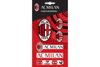 AC Milan Sticker Set (Red) (One Size)