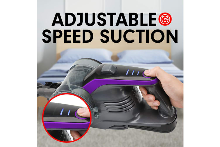 dick smith 150w handheld vacuum stick cleaner hand battery cordless purple vacuum cleaners. Black Bedroom Furniture Sets. Home Design Ideas