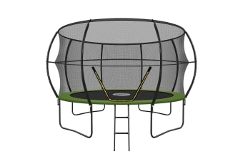 Genki 12ft Round Outdoor Trampoline Set with Safety Enclosure & Ladder 150KG