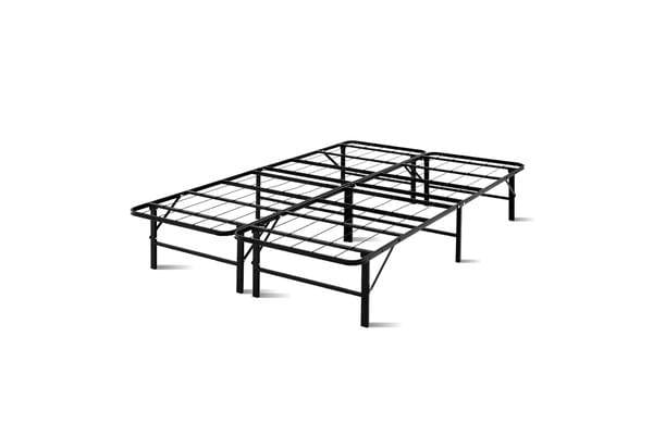 Artiss Foldable Double Metal Bed Frame (Black)