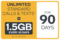 Kogan Mobile Prepaid Voucher Code: SMALL (90 Days | 1.5GB Per 30 Days)