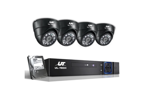 UL-TECH 1080P Four Channel HDMI CCTV System with 4 Cameras & 1TB Hard Drive (Black)