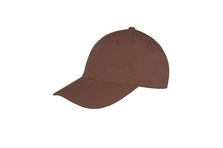 Result Unisex Core Memphis 6 Panel Baseball Cap (Pack of 2) (Chocolate) (One Size)