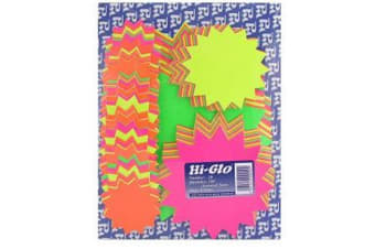 Hi-Glo Assorted Stars (Pack Of 100) (Multicoloured) (Pack Of 100)