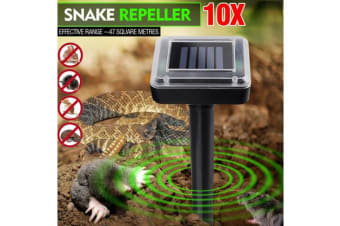 10x Ske Repeller Solar Powered Ultrasonic & Pest Rodent Rat Repellent
