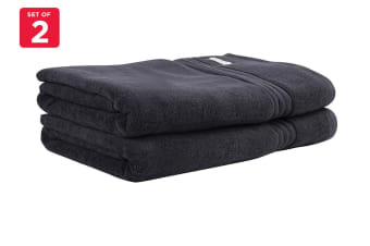 Onkaparinga Ethan 600GSM Bath Sheet Set of 2 (Charcoal)