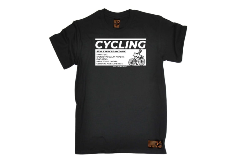 Ride Like The Wind Cycling Tee - Side Effects - (5X-Large Black Mens T Shirt)