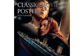 Classic Movie Posters 2019 Premium Square Wall Calendar 16 Months New Year Xmas