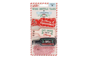 Joy To The World Proseccomas Wine Bottle Gift Tags (Pack Of 15) (Multicoloured)