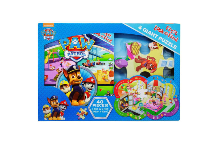 Paw Patrol First Look and Find Book And Puzzle Set
