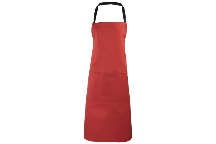 Premier Ladies/Womens Apron (with Pocket) / Workwear (Red) (One Size)