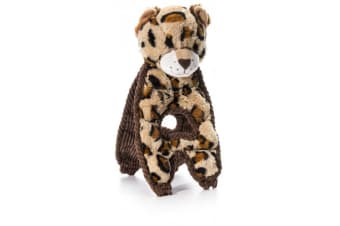 Charming Pet Cuddle Tug Lively Leopard Toy (Brown)